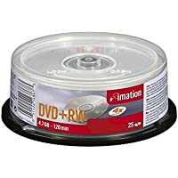 Imation I16867 - Pack de 25 DVD+RW, 4x, 4.7 GB