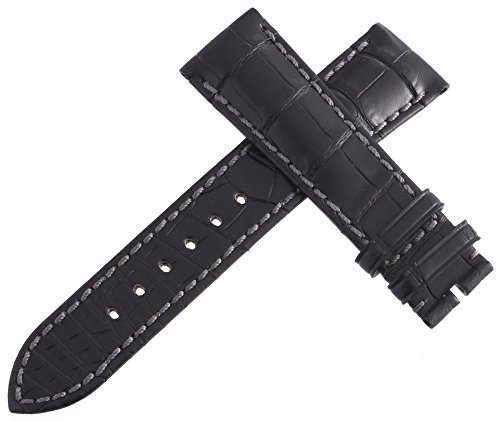 Corum Authentic schwarz Leder Uhrenarmband 21 mm