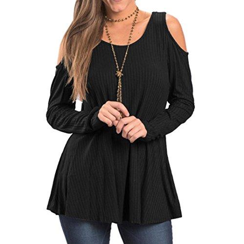 Sweat à Capuche Femme, Morwind Pull Long Femme Laine Pullover Blouse Femme Chic Fashion Noir