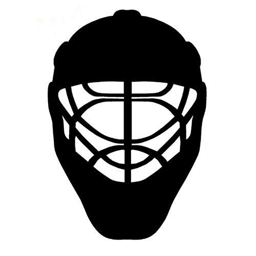 Autoaufkleber Auto Liefert Sport Eishockey Helm Körper Aufkleber Schwarz 15 Cm x 22 Cm