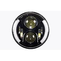 Sunpie 46537428 LED Gruppo Ottico con Halo Anello Dell'Occhio di Angelo Drl e Spegnere Le Luci - 2003 Hummer H1