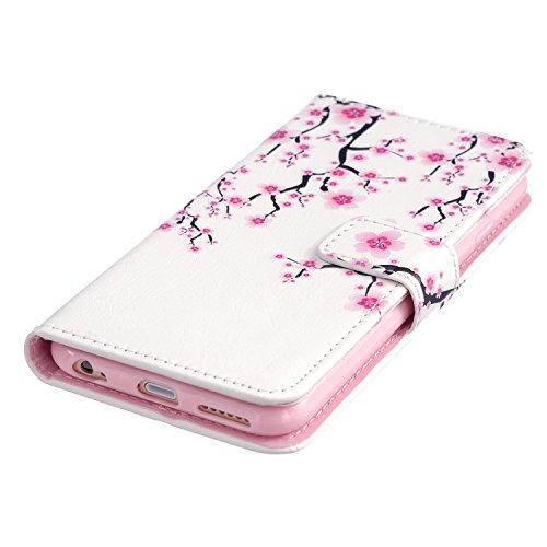 Etui Coque PU Slim Bumper pour Apple iPhone 6 (4,7 pouces) Souple Housse de Protection Flexible Soft Case Cas Couverture Anti Choc Mince Légère Silicone Cover Bouchon -photo Frame Keychain #AZ (10) 7