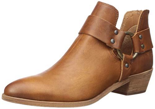 Damen-harness Boot (FRYE Damen Ray Harness Back Zip Stiefelette, Caramel, 37 EU)