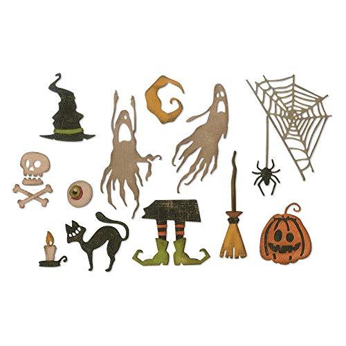 Sizzix Thinlits Stanzformen Set 17Pk Schreckliches Halloween