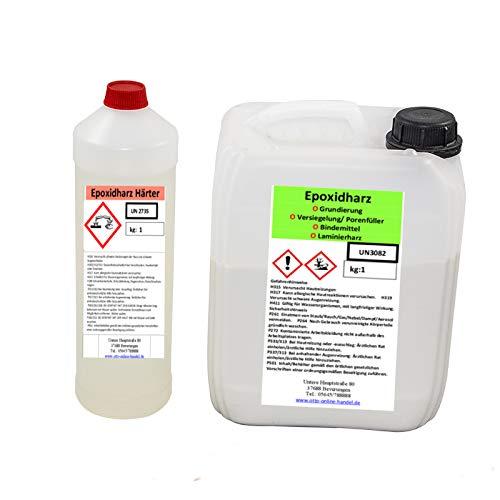 Preisvergleich Produktbild otto online handel Das ultimative glasklare Giessharz, 1,2 Kg Epoxidharz incl. Härter, transparent, UV stabil
