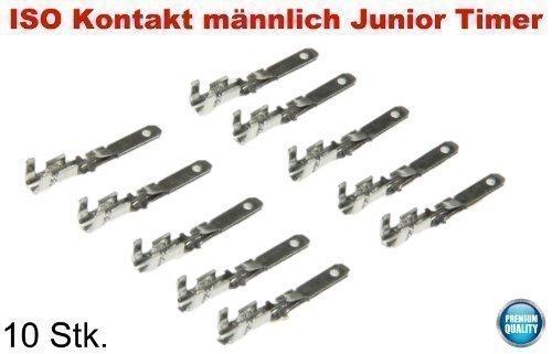 Preisvergleich Produktbild ISO Kontakte 10 x männlich Junior Timer male Pins Buchse Stecker Adapter Set