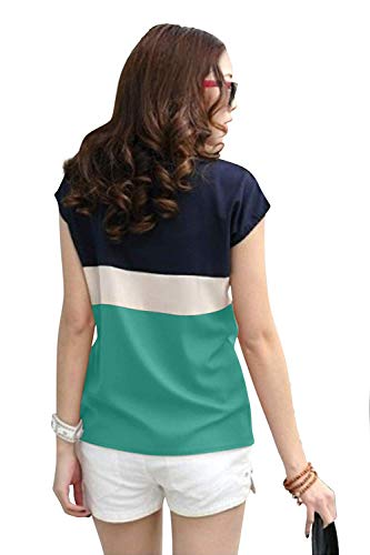 Ytrick Women's Cotton T-Shirt ... (Green, M)