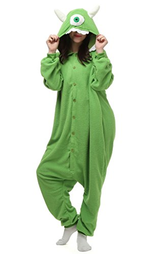 Auspicious beginning Unisex-adult Monsters Inc.Mike Cosplay-Kostüm-Karikatur-Schlafanzüge Pyjama Freizeitkleidung (Aus Monsters Mike Inc Kostüme)