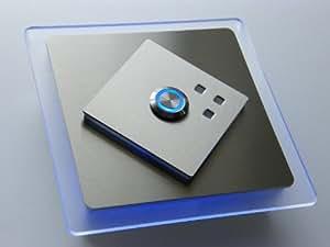 Edelstahl Türklingel Klingelplatte Klingel LED ED356, Plexiglasbeleuchtung:Blau