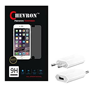 Chevron 0.3mm Tempered Glass Screen Guard Protector For Asus ZenFone 6 With USB Mobile Wall Charger