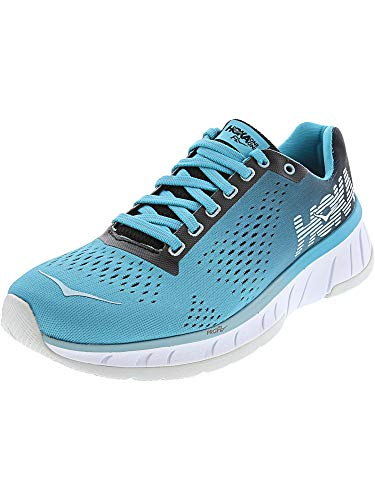 Hoka One Women's Cavu Black/Bluebird Ankle-High Mesh Running Shoe - 7.5M
