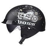 LWAJ Casque Moto Jet · Demi Jet Retro Helmet Chopper Cruiser Scooter · Dot...