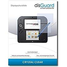2 x disGuard Crystal Clear Lámina de protección para Nintendo 2DS / 2-DS (1 para el frente / 1 para la espalda) - ¡Protección de pantalla cristalina con recubrimiento duro! CALIDAD PREMIUM - Made in Germany