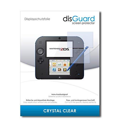 disGuard® Displayschutzfolie [Crystal Clear] kompatibel mit Nintendo 2DS [3 Stück] Kristallklar, Transparent, Unsichtbar, Extrem Kratzfest, Anti-Fingerabdruck - Panzerglas Folie, Schutzfolie (3m Crystal Clear)