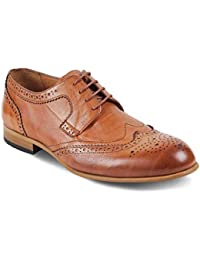 tresmode Mens Leather Derby Formal Shoes