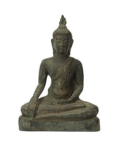 Thai Bouddha assis Statue en métal bronze, environ 17cm de