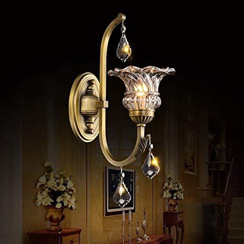 Retro Kupfer & Glas Wandleuchten Leuchte Lampen für Kopfteil Schlafzimmer Nachttisch Veranda Bad Eitelkeit (Nicht Enthalten E14 Lichtquelle) -