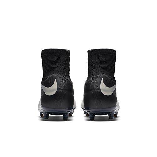 Nike Hypervenom Phantom Ii Lthr Fg, Chaussures de Foot Homme, 44 EU Blanc / noir (pierre claire / pierre claire - noir - noir)