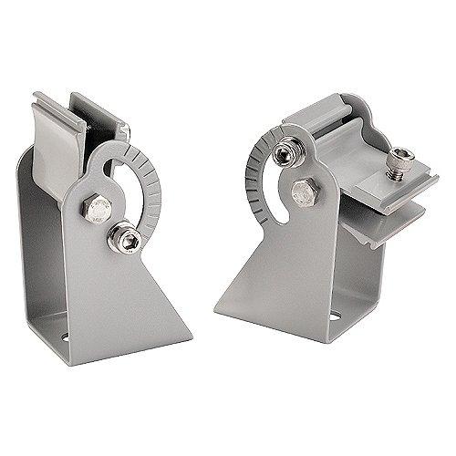 Slv - Juego soporte pared corta/o para luminaria vano plata (2u)