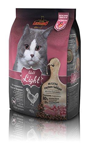 Leonardo Adult Light [400g] Katzenfutter | Diät Trockenfutter für Katzen | Alleinfuttermittel für Katzenrassen ab 1 Jahr