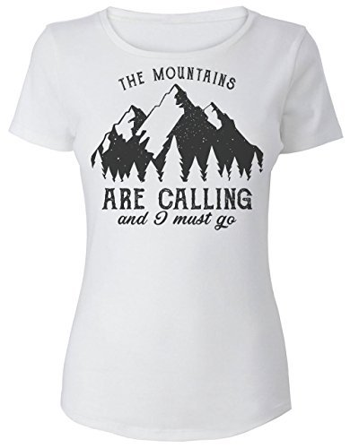 The Mountains Are Calling And I Must Go Frauen Women's T-Shirt Extra Large (Life Mountain T-shirts)