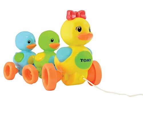 """TOMY Babyspielzeug \""""Entenfamilie\"""" mit Soundeffekt - Hochwertiges Nachziehpielzeug mit farbenfrohem Design - motiviert zur Bewegung - Ab 10 Monaten"""