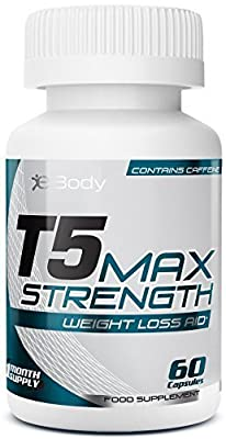 T5 FAT BURNERS Max Strength | Best Slimming Diet Pills Super Strong | T5s Weight Loss Tablets (60 Capsules) from eBody