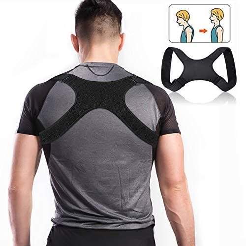 Charminer Posture Trainer, Support de Dos pour entraîneur d'épaule, correcteur de Posture Droite, bandoulière pour Douleur au...