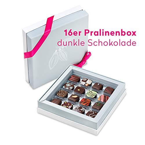 Pott au Chocolat Gourmet-Reise - Geschenk-Box mit 16 Pralinen, handgemacht aus hochwertigem Edel-Kakao und frischen Zutaten - perfekt für jeden Anlass, als Dankeschön, liebe Gäste, die beste Freundin