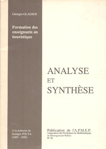 Analyse et synthèse, numéro 76