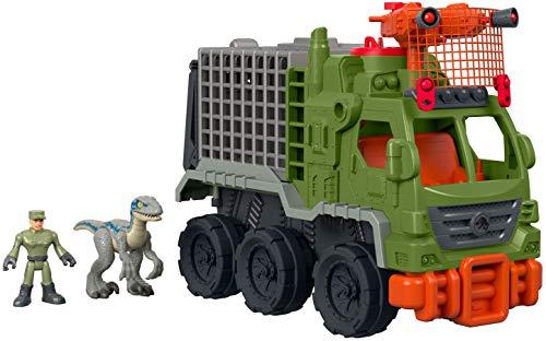 Imaginext Jurassic World, Camión atrapa-dinosaurios, juguete para niño +3 años (Mattel FMX87)