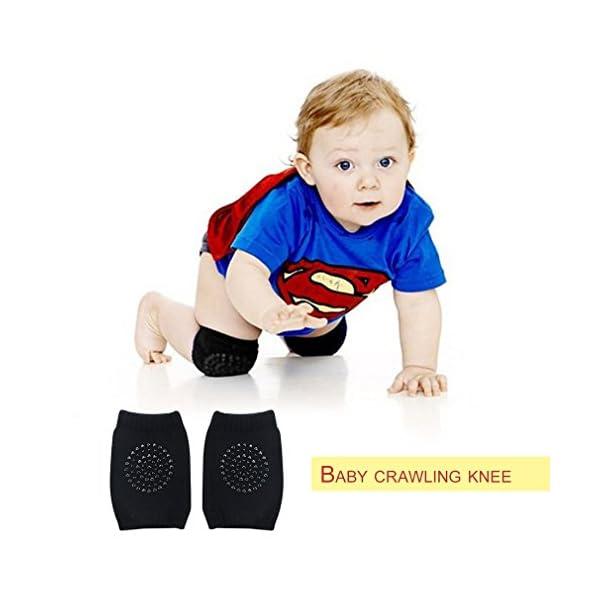 LeobooseToddler Kids Kneepad Protector Terry engrosado antideslizante Seguridad Rastreo Bebé Calentadores de piernas… 3