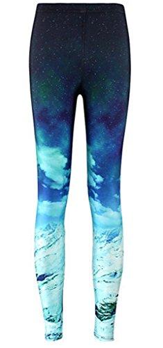 Toyobuy - Pantalon de sport - Slim - Motifs - Femme XX-Large Bleu