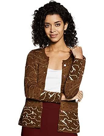 Duke Women's Wool Cardigan (SDS9410D.Browns_D.Brown_S)