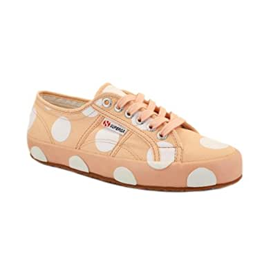 Superga vs House of Holland 2750 Womens Laced Canvas Trainers Pink White - 3