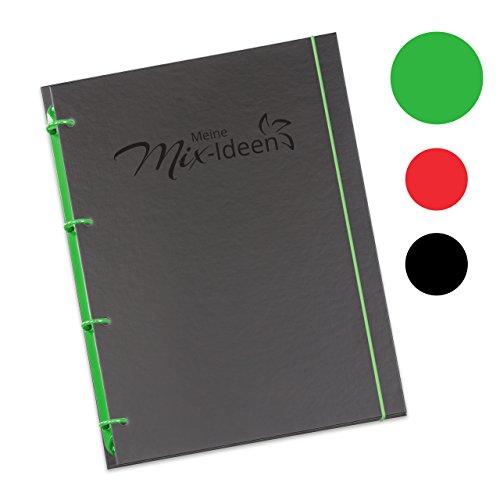 """Schaar-Design flexiNotes® Kochbuch A4 zum Selberschreiben, inkl. 200 Rezepteinlagen für Küchenmaschinen mit Kochfunktion, DIY Rezeptordner als Ringbuch nachfüllbar mit Register, Typ: A4, """"Meine Mix-Ideen"""", Farbe: Apfelgrün"""