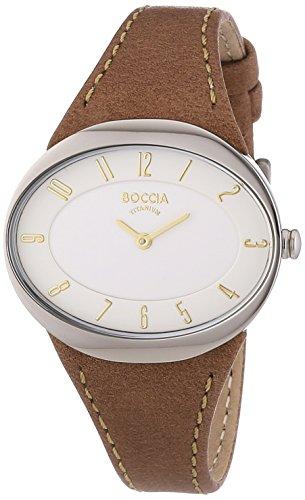 Boccia Damen-Armbanduhr Analog Quarz Leder 3165-14