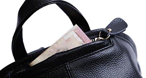 La Signora In Pelle Di Lusso Multifunzionale Borsa A Tracolla Borsa Zaino Black