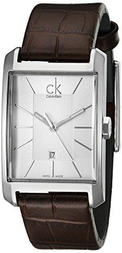 Calvin Klein Damen-Armbanduhr Window Analog Leder K2M23126 -