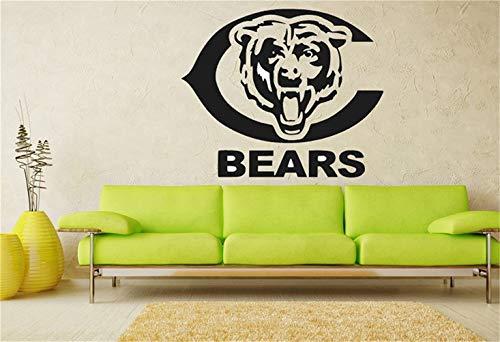 inderzimmer Chicago Bears Logo NFL Team Wandkunst Aufkleber Aufkleber Garage Man Cave Decor ()