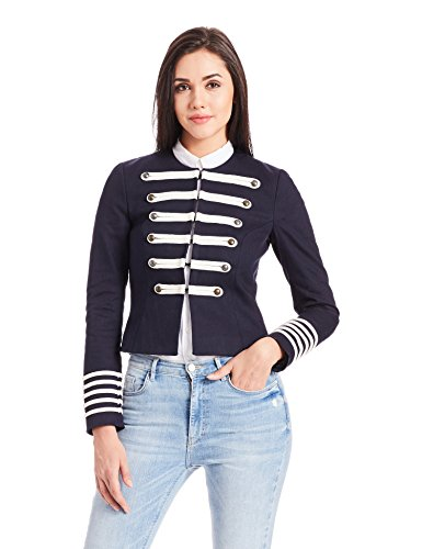 Tommy Hilfiger Women's Cotton Jacket (A6AWO0126_Navy Blazer)