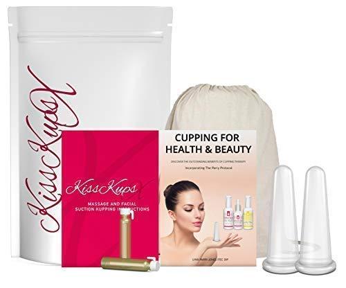 Best Naturals Silikon Gesichtsmassage Cups x 2plus Full Anweisungen Doppel-cup