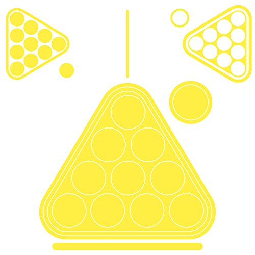 vitaste Beer Pong Tischaufkleber - Aufkleber Set für Beerpong Tisch Trinkspiel (1 Stück, Leuchtend) thumbnail
