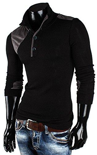 Pull-over pour homme en tricot emimay pull en tricot nouveau étiquette sweat-shirt à capuche Noir - Noir
