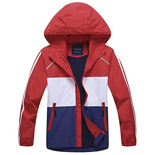 G-Kids Jungen Wasserdicht Jacke Übergangsjacke Regenjacke mit Fleecefütterung Kinder Warm Winddicht Atmungsaktiv Wanderjacke Softshelljacke Outdoorjacke 140