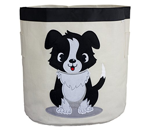 Wäschekorb/Bin/behindern–Hund Design–langlebig-Canvas Stoff–45cm x 43cm x 43cm–Die perfekte Tier Lagerplatz für Kinder von Sun Katze (Leinwand-storage-würfel)