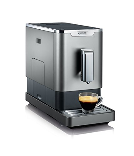 Severin KV 8090 Kaffeevollautomat (1350 Watt, 1,1 L, Edelstahl, Kunststoff) grau-metallic/schwarz