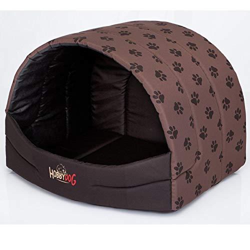 HobbyDog N BUSJBL6R4 Souffleur Hundehöhle Katzenhöhle Hundebett Katzenbett Hundehaus Schlafplatz Hundekorb Hund Haus Hundehütte S-XL (XL (60 x 49 cm)) …