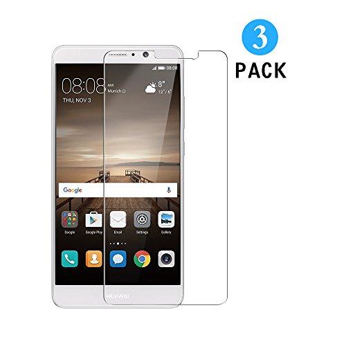 Huawei Mate 9 Schutzfolie, [3 Stück] WEOFUN Panzerglas für Huawei Mate9 [0.33mm, 9H Härtegrad, 99% Transparenz]