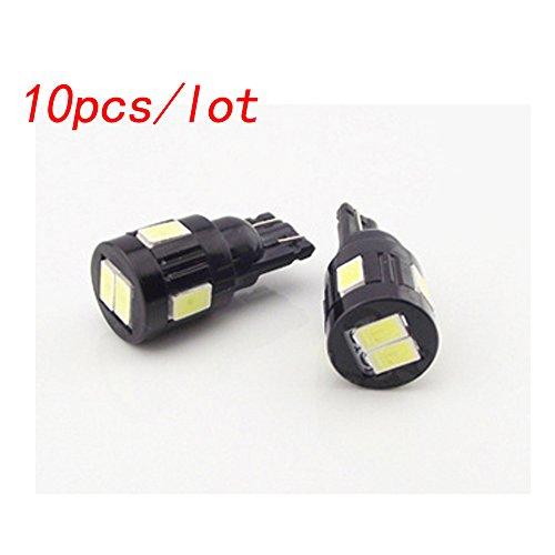 10 Stücke T10 5630 6SMD C5W Auto 6 LED Auto Stecker Lampe 12 V Auto Innenseitenlicht Wedge Bulb Stecker Spielen Lesen Verpackung Licht Styling